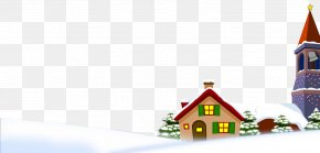 New Year Christmas Snow Transparent FIG. - Snow Winter House PNG