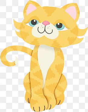 Whiskers Animated Cartoon - Cartoon Yellow Animal Figure Clip Art Tail PNG