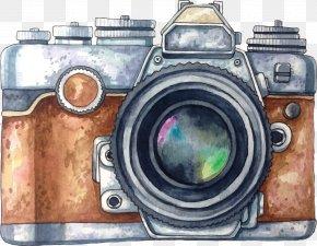 Vector Painted Camera - Camera Photography Watercolor Painting Drawing PNG