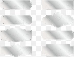 Metal Silver Sign Plate - Metal Silver PNG