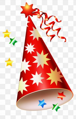 Red Party Hat Transparent Clipart - Party Hat Birthday Clip Art PNG