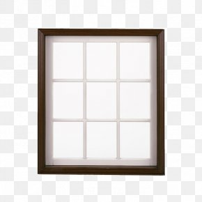 Black White Windows - Sash Window Picture Frame PNG
