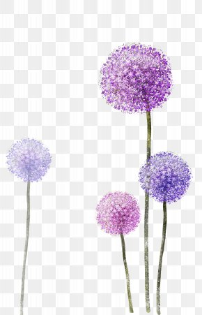 Purple Dandelion - Paper Wallpaper PNG