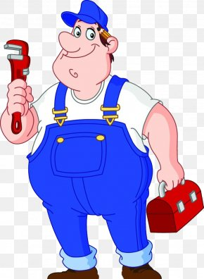 Fat Man - Plumber Plumbing Wrench Illustration PNG