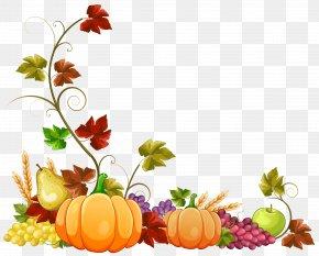 Autumn Pumpkin Decoration Clipart Image - Autumn Clip Art PNG