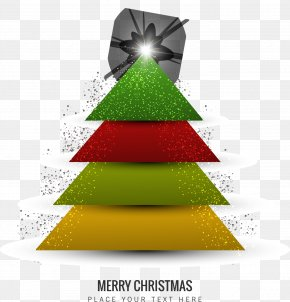 Cartoon Christmas Tree - Christmas Tree Christmas Card PNG