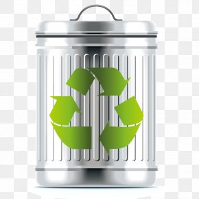 Vector Trash Container - Recycling Bin Waste Container PNG