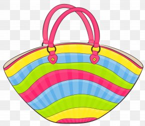 Transparent Beach Bag Clipart - Bag Beach Clip Art PNG