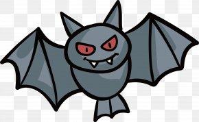 Bloodthirsty Bat - Bat Clip Art PNG