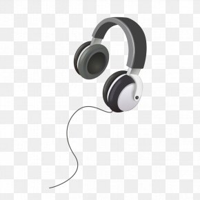 Black And White Headphones Icon - Headphones Black And White Drawing Icon PNG