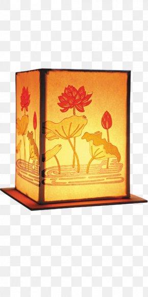 Beautiful Lotus Lantern - Paper Lantern Paper Lantern Mid-Autumn Festival PNG