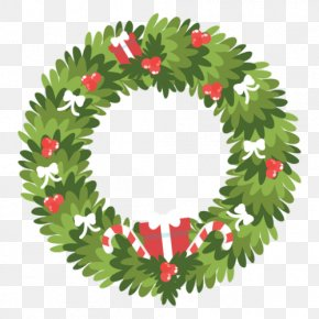 Christmas - Wreath Christmas Decoration Christmas Ornament Candy Cane PNG