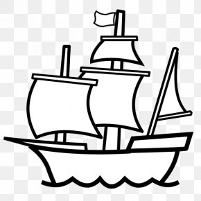 Naval Architecture Tall Ship - Ship Cartoon PNG