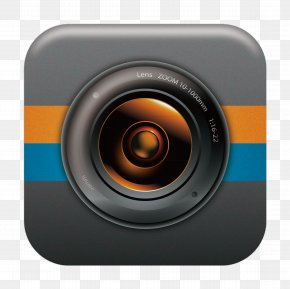 Click The Download Button - Camera Lens Button Download PNG