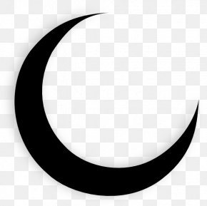 Crescent Moon And Star Pictures - Crescent Circle White Pattern PNG