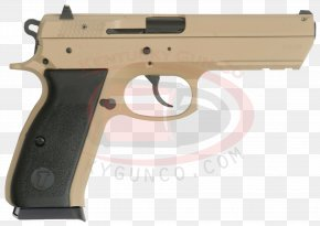 Sand DESERT - Trigger CZ 75 Firearm Gun Barrel Semi-automatic Pistol PNG