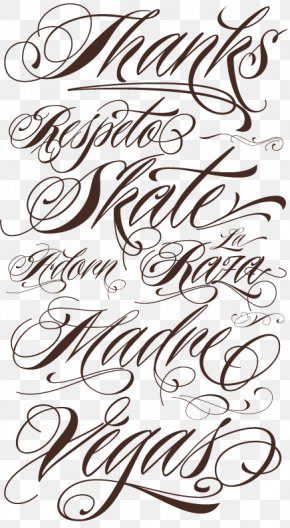 Lettering Cursive Script Typeface Tattoo Font PNG