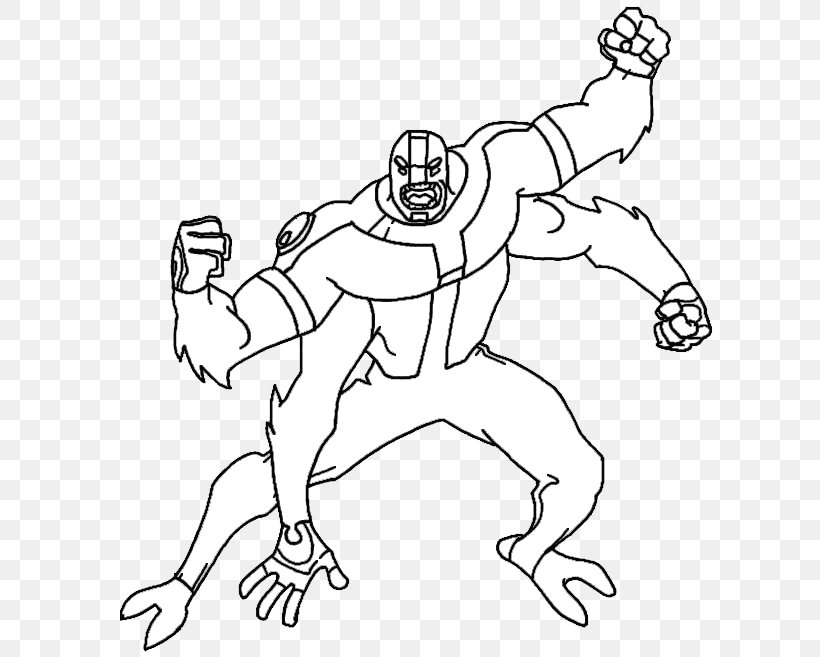 - Ben 10: Omniverse Four Arms Coloring Book Swampfire, PNG, 635x657px, Ben  10, Adult, Area, Arm, Art