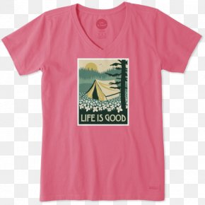 T-shirt - T-shirt Sleeve Life Is Good Company Clothing PNG