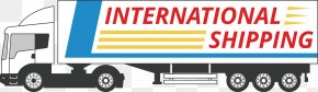 Truck Courier Decoration - Truck Transport PNG