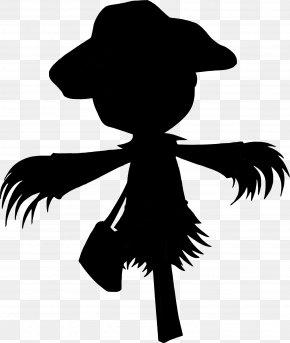 M Clip Art Character Silhouette Headgear - Black & White PNG