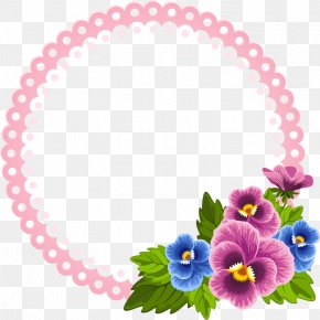 Pink Circle - Flower Ornament Pansy Clip Art PNG