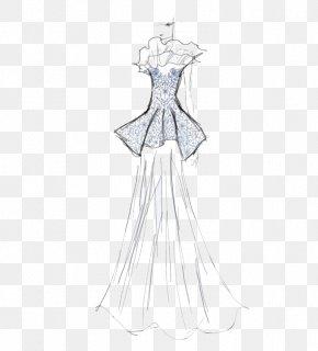 Banquet Service Manuscripts - Gown Fashion Design Dress Pattern PNG