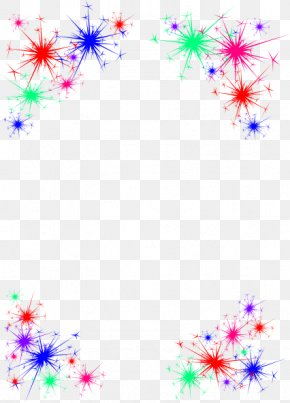 Celebrate Border Cliparts - Fireworks New Year Clip Art PNG
