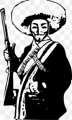 Anonymous - Mexican Revolution Emiliano Zapata Technological University UTEZ Anonymous Clip Art PNG