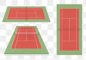 Geometric Badminton Court - Tennis Centre Badminton Illustration PNG