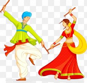 Men And Women Dance - Garba Dandiya Raas Navaratri Song PNG