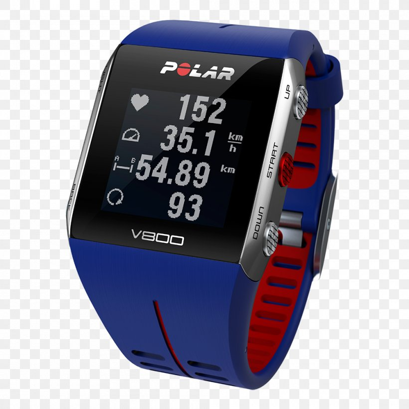 GPS Navigation Systems GPS Watch Polar Electro Heart Rate Monitor Global Positioning System, PNG, 1000x1000px, Gps Navigation Systems, Bicycle, Bicycle Computers, Blue, Brand Download Free