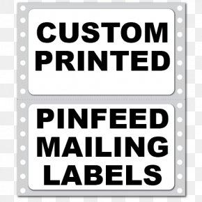 Corner Label - Label Printer Sticker Printing Information PNG