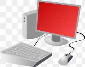 Computer Red Suit - Computer Mouse Computer Keyboard Desktop Computers Clip Art PNG