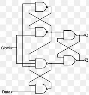 Edge Triggered - Flip-flop Edge Triggered Signal Edge Clock Signal Electronic Circuit PNG
