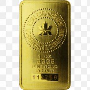 Gold Image - Gold Bar Gold Coin Bullion Royal Canadian Mint PNG