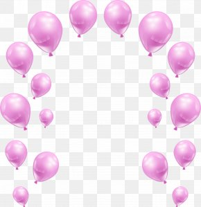 Vector Hand-painted Pearl Balloons - Pink Balloon PNG