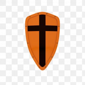 Orange Cross Shield - Shield Photography Illustration PNG