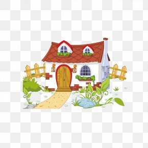 House And Fence - House Free Content Cottage Clip Art PNG