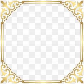 Gold Border Frame Clip Art Image - Fancy That Boutique LOUENHIDE Clip Art PNG