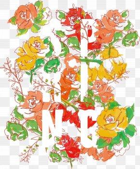 Floral Font Vector Material - Floral Design Typeface Font PNG