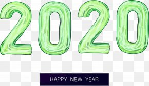 Number Text - Happy New Year 2020 Happy 2020 2020 PNG
