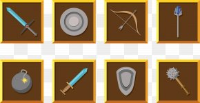 Creative Weapon Set - Role-playing Game Weapon Shield PNG