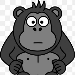 Cartoon Gorilla - Ape Cartoon Monkey Clip Art PNG