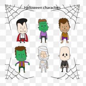 6 Halloween Vector Characters - Halloween Euclidean Vector Download PNG