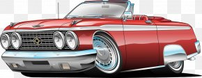 Lengthen The Car - Muscle Car Cartoon Illustration PNG