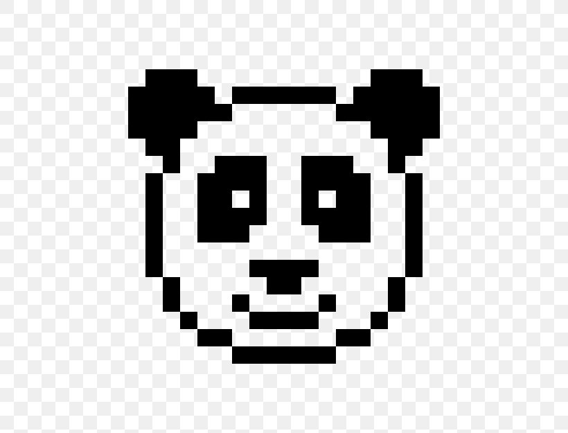 Minecraft Giant Panda Pixel Art Drawing Png 600x625px