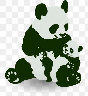 Cute Panda - Giant Panda Bear Baby Grizzly Clip Art PNG