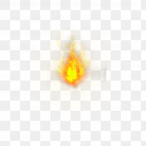 Yellow Simple Flame Effect Element - Yellow Desktop Wallpaper Computer Wallpaper PNG