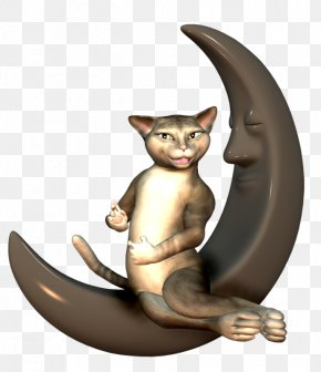 Cats On The Moon - Cat Moon Clip Art PNG